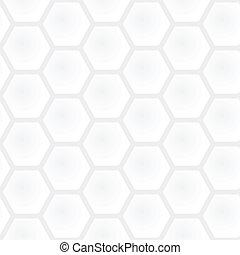 wektor, szary, graficzny, prosty, lekki, nowoczesny, -, seamless, texture., polygonal, skwer, czarne tło, próbka, biały, geometryczny, plaster miodu