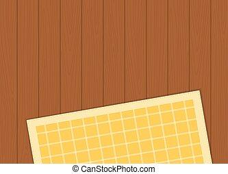 wektor, tablecloth, drewniany, płaski, odizolowany, klatkowy, powierzchnia