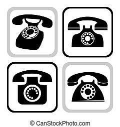 wektor, telefon, zbiór
