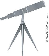 wektor, teleskop, ilustracja