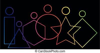 wektor, włączanie, 2021, odizolowany, czarnoskóry, wesoły, komplet, chorągiew, rozmaitość, logo, ludzie tła, duma, pojęcie, website, infographic