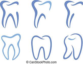 wektor, zęby