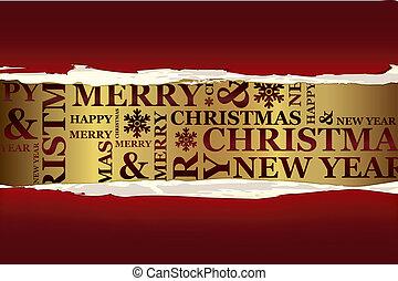 wesołe boże narodzenie, karta, powitanie