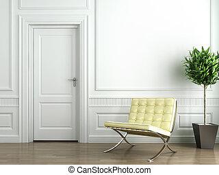 wewnętrzny, biały, klasyk