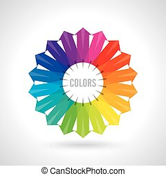 wheel., kolor, ilustracja, wektor
