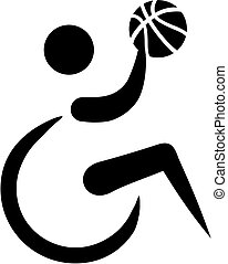 wheelchair basketball, ikona