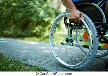wheelchair, chód