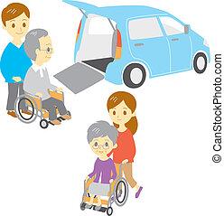wheelchair, stary zaludniają