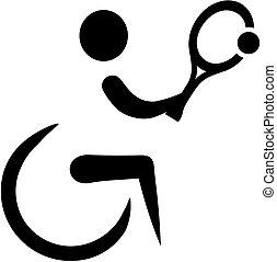 wheelchair, tenis, ikona