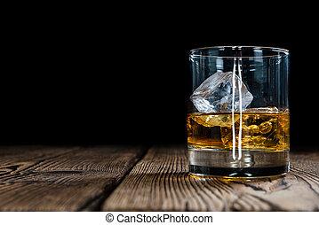 whisky, jednorazowy, słód