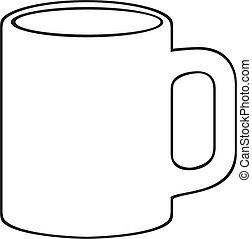 (white, kubeczek kawy, cup)
