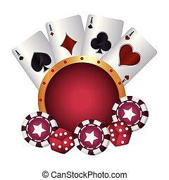 wiór pogrzebacza, kasyno, gra w kości, garnitur, bilety