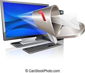 wiadomość, pojęcie, komputer, email