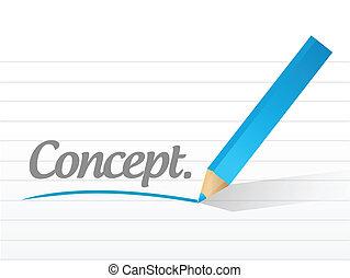 wiadomość, pojęcie, projektować, ilustracja