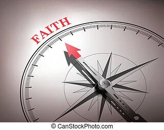 wiara, słowo, spoinowanie, abstrakcyjny, igła, busola