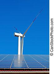 wiatr energia, moc słoneczności, wieża