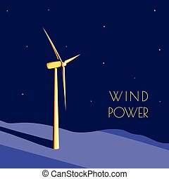 wiatr moc, generator
