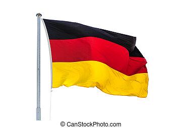 wiatr, niemcy, krajowy, zaondulowany, bandera