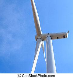 wiatr turbina, pojęcie, energia, czysty