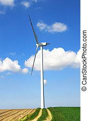 wiatrak, konceptualny, image.
