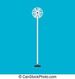 wiatrak, turbina, przemysłowy, generator, moc, zagroda, energia, ekologiczny, wektor, icon., śmigło, wiatr, alternatywa, biały, odnawialny