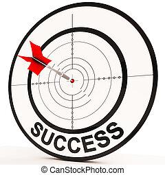 widać, determinacja, osiągnięcie, powodzenie, zwycięski