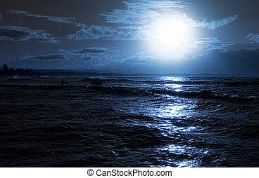 wieczorny, plaża