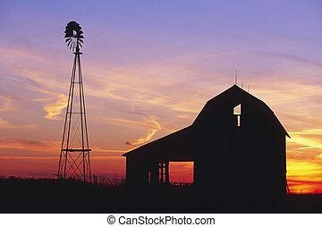 wiejski, stodoła