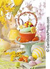 wielkanoc, cupcake