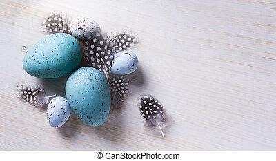 wielkanoc, tło, sztuka, drewno, flovers, wiosna, jaja