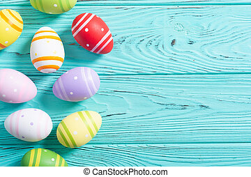 wielkanoc, zbiór, jaja