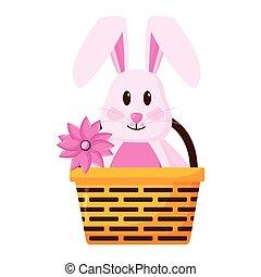 wielkanocny królik, szczęśliwy