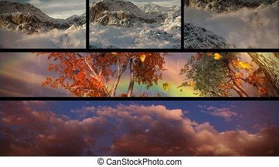 wielki, natura, dobrze, podróż, tematy, przygoda, pogoda, skład, outdoors., niebiosa, turystyka, sezonowy