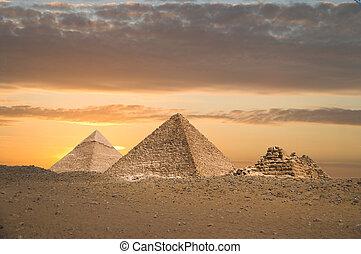 wielki, piramidy