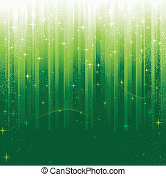 wielki, themes., płatki śniegu, świąteczny, próbka, wiry, kwestia, albo, tło., gwiazdy, zielony, okazje, falisty, pasiasty, boże narodzenie