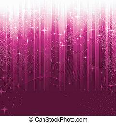 wielki, themes., płatki śniegu, wiry, purpurowy, próbka, świąteczny, kwestia, albo, tło., gwiazdy, okazje, falisty, pasiasty, boże narodzenie