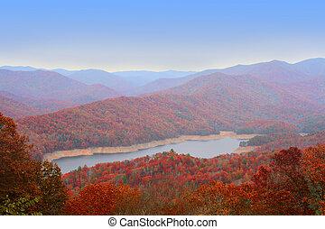wielki, u, dymny, jesień, góry