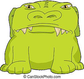 wielki, zielony potwór