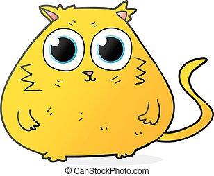 wielkie wejrzenie, rysunek, ładny, kot