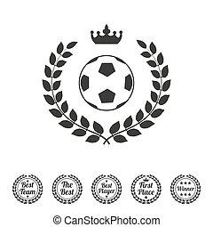 wieniec, laur, piłka nożna, zwycięzca, ball.