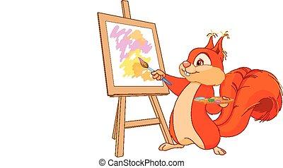 wiewiórka, artysta