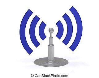 wifi, antena, ikona
