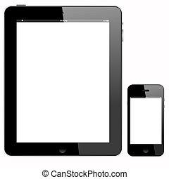 wihte, pc, ekran, smartphone, tabliczka