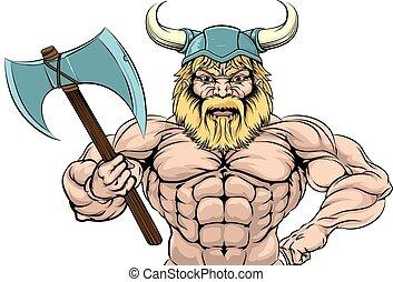wiking, wojownik, lekkoatletyka, maskotka