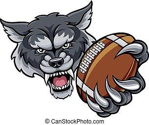 wilk, maskotka, amerykańska piłka nożna