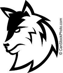 wilk, symbol, projektować, ilustracja
