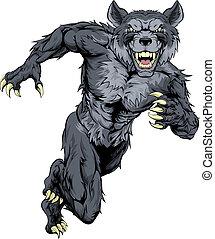 wilk, wyścigi, maskotka