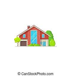willa, dom dom, gmach, chata, bungalow, ikona