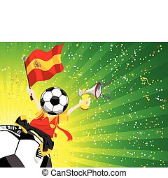 winner., piłka nożna, hiszpania