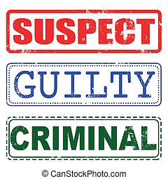 winny, tłoczyć, podejrzany, kryminalny